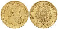 10 Mark 1880 Württemberg, Karl, 1864-1891,...