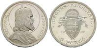 5 Pengö 1938, Ungarn, 900. Todestag des Hl...