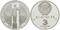 3 Rubel 1991 Russland, 30.Jahrestag des er...