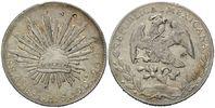 8 Reales 1891 Mexiko, China, chinesische P...