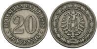 20 Pfennig 1888 E, Kaiserreich, Kleinmünze...