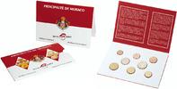 Euro-Kursmünzensatz 2001 Monaco, Albert II...