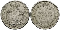 1/4 Taler 1768 FU, Hessen-Kassel, Friedric...