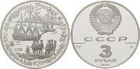 3 Rubel 1990, Russland, James Cook auf den...