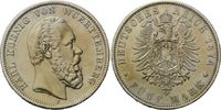 5 Mark 1874 Württemberg, Karl, 1864-1891, vz+