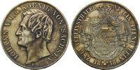 Doppeltaler 1858 F Sachsen, Johann, 1854-1...