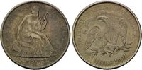 50 Cents 1875 S USA, Liberty Seated Half D...