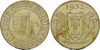 5 Gulden 1932 Danzig, Krantor, vz+