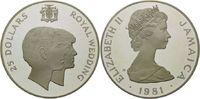 25 Dollars 1981 Jamaika, Hochzeit Charles ...