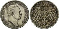 3 Mark 1909 Sachsen, Friedrich August III....