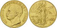 50 Lire 1911, Italien, Viktor Emanuel III....