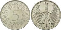 5 Mark 1963 D, BRD, Silberadler - Kursmünz...