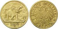 15 Rupien 1916 T Deutsch Ostafrika, Elefan...