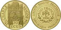500 Francs / 70 Ecu 1990 Frankreich, Karl ...