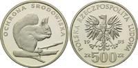 500 und 1000 Zlotych 1985 Polen, Eichhörnc...