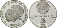 3 Rubel 1988, Russland, Silbermünze aus de...