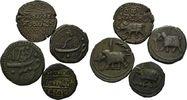 Lot Umlaufmünzen Ende 18 Jh. Indien, Tipu ...