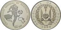 100 Francs 1994, Djibouti, Fußball-WM 1994...