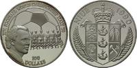 100 Dollars 1990, Niue, Fußball-WM 1990 in...