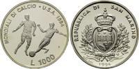 1000 Lire 1994, San Marino, Fußball-WM 199...