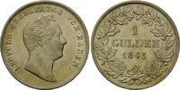 Gulden 1843, Baden, Leopold, 1830-1852, kl...