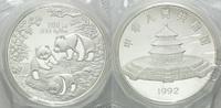 100 Yuan 1992, China, Panda, Orig.-Etui un...