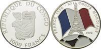 1000 Francs 1996, Kongo Republik, Fußball ...