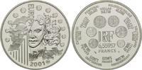 6,55957 Francs / 1 Euro 2001, Frankreich,  PP