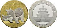 10 Yuan 2010, China, Panda, Teilvergoldet ...