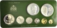 Proof-Set 1976, Guyana, Kursmünzensatz der...