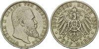 5 Mark 1898 F, Württemberg, Wilhelm II, 1888 - 1918 s-ss  36,00 EUR  +  9,90 EUR shipping