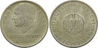 5 Reichsmark 1929 D, Weimarer Republik, Lessing, vz/st kl.Kr.  215,00 EUR  +  9,90 EUR shipping