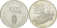 1000 Forint 1994, Ungarn, Alte Donau Dampf...