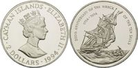 2 Dollars 1994, Kaiman Inseln, 200. Jahres...