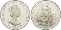 1 Dollar 1989, Pitcairn, 200 Jahre Meuterei auf der Bounty, PP  45,00 EUR  +  9,90 EUR shipping