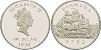 2 Dollars 1993, Bermuda, 200 Jahre Münzprä...