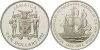 10 Dollars 1992, Jamaika, 500 Jahre Entdeckung Amerikas, Karavelle, PP  26,00 EUR  +  9,90 EUR shipping