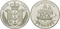 "10 Dollars 1992, Niue, Segelschiff ""The Resolution"", PP  29,00 EUR  +  9,90 EUR shipping"