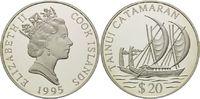 20 Dollars 1995, Cook Inseln, Geschichte der Seefahrt - Katamaran der T... 29,00 EUR  +  9,90 EUR shipping