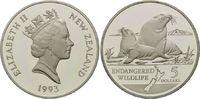 5 Dollar 1993, Neuseeland, WWF, bedrohte Tierwelt - Seelöwen, PP  26,00 EUR  +  9,90 EUR shipping