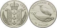 10 Dollars 1992, Niue, WWF, bedrohte Tierwelt - Weißwale, PP  26,00 EUR  +  9,90 EUR shipping