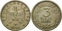 3 Reichsmark 1931 J Weimarer Republik,  ss-vz