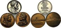 Lot von 3 Medaillen 1821-1973, Frankreich,...