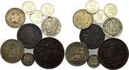 Lot von 9 Münzen 1840-1960, Spanien Süd-Am...