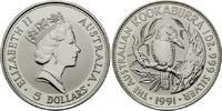 5 Dollars 1991, Australien, Kookaburra, 1 ...