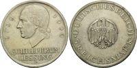 5 Mark 1929 F, Weimarer Republik, Lessing,...