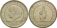 5 Mark 1929 J, Weimarer Republik, Schwurha...