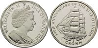1 Crown 2003, Isle of Man, 140 Jahre Segel...