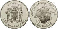 10 Dollars 1991, Jamaika, 500 Jahre Entdeckung Amerikas, Segelschiff 'P... 32,00 EUR  +  9,90 EUR shipping