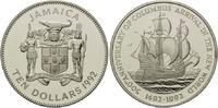 10 Dollars 1992, Jamaika, 500 Jahre Entdeckung Amerikas, Segelschiff Ka... 29,00 EUR  +  9,90 EUR shipping